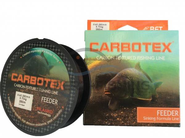 FIR CARBOTEX FEEDER DM BLACK 0.18mm 4.50kg 250m