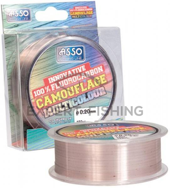 FIR ASSO FLUOROCARBON MULTICOLOR 0.14mm 150m