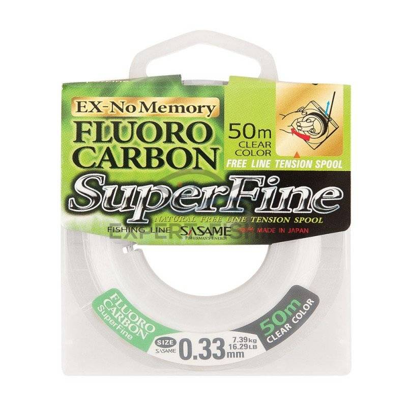 FIR FLUOROCARBON SASAME SUPERFINE 50m 0.20mm 2.90kg