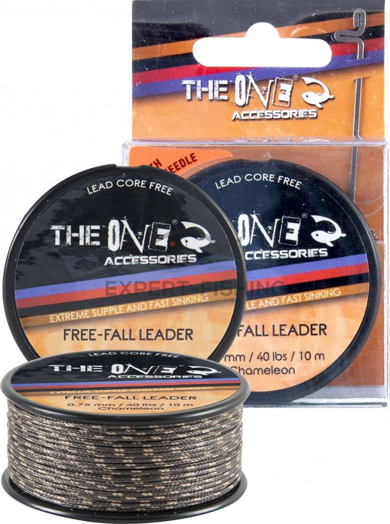 THE ONE FREE FALL LEADER MATERIAL 10m 0.75mm 40lb CAMELEON